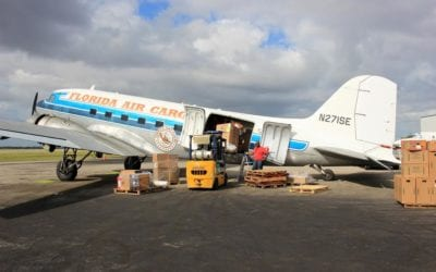 cargo plane in Miami